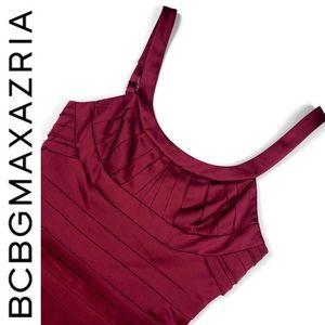 NWOT!  BCBGMaxAzria Merlot Satin Dress